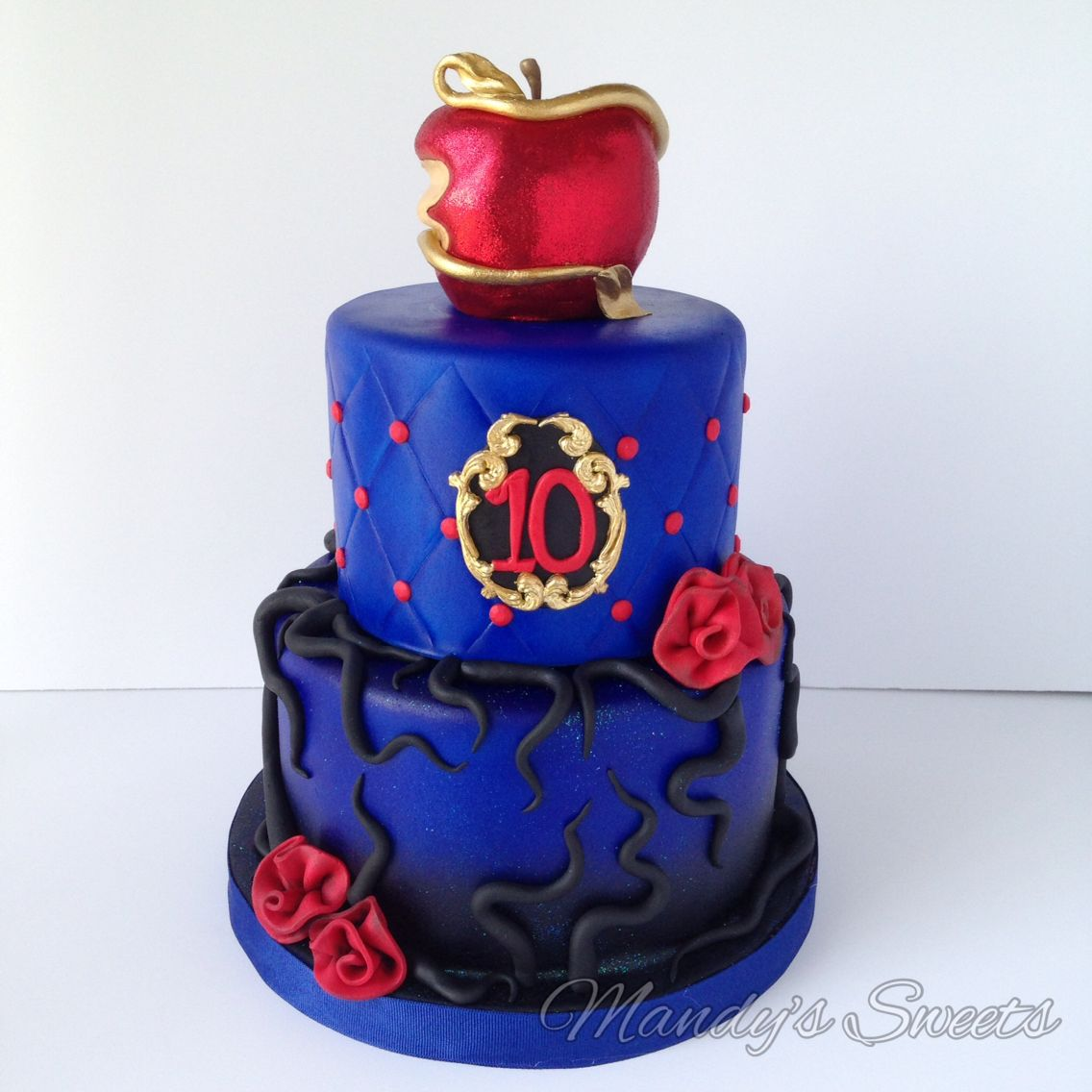 Descendants Cake Disney Villians Party Desce