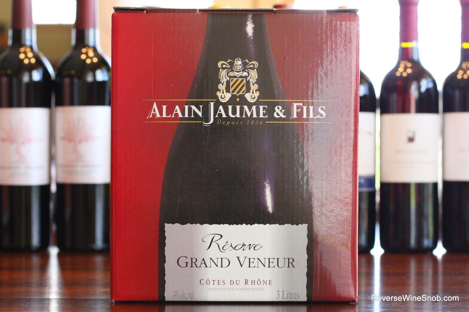 The Reverse Wine Snob The Best Box Wines Alain Jaume Fils Grand Veneur Cotes Du Rhone Reserve 2012 A Dynamite Da Wine Snob Wine Recommendations Wine Down