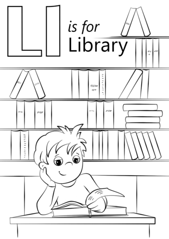 Letter L Is For Library Coloring Page From Letter L Category Select From 26690 Printable Free Printable Coloring Pages Coloring Pages Printable Coloring Pages