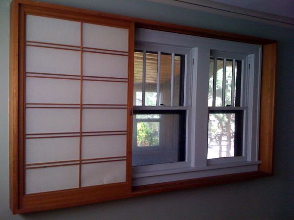 Sliding Anese Style Window Coverings