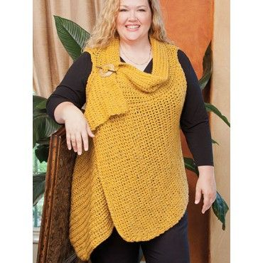 11 Figure Flattering Plus-Size Fashions Crochet Patterns Tunic Shawl ...