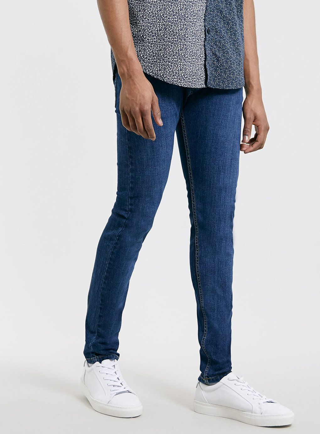Mid Bright Blue Stretch Skinny Jeans | Productos, Jeans ajustados ...