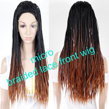 ombre braided lace front wig synthetic just $68 free shipping