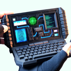 Sci-Fi Computer Phone Holder | Wearable computer, Phone holder, Computer diy