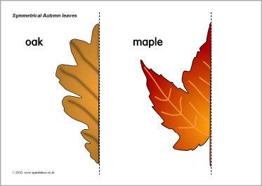 Symmetrical Autumn leaf mirror pictures (SB3175) - Imágenes para ...