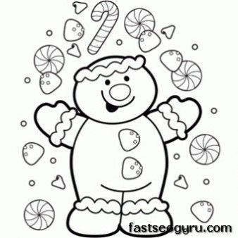 Free Printable Christmas A Happy Gingerbread Boy Coloring Page Free Christmas Coloring Pages Christmas Coloring Sheets Printable Christmas Coloring Pages