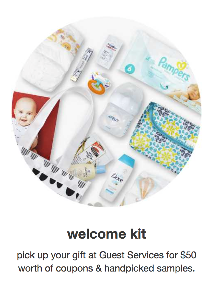 free target baby registry welcome kit 50 worth of