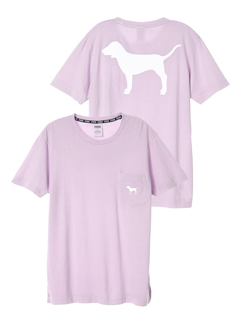 e979ad4a4 Campus Short Sleeve Tee - PINK - Victoria s Secret