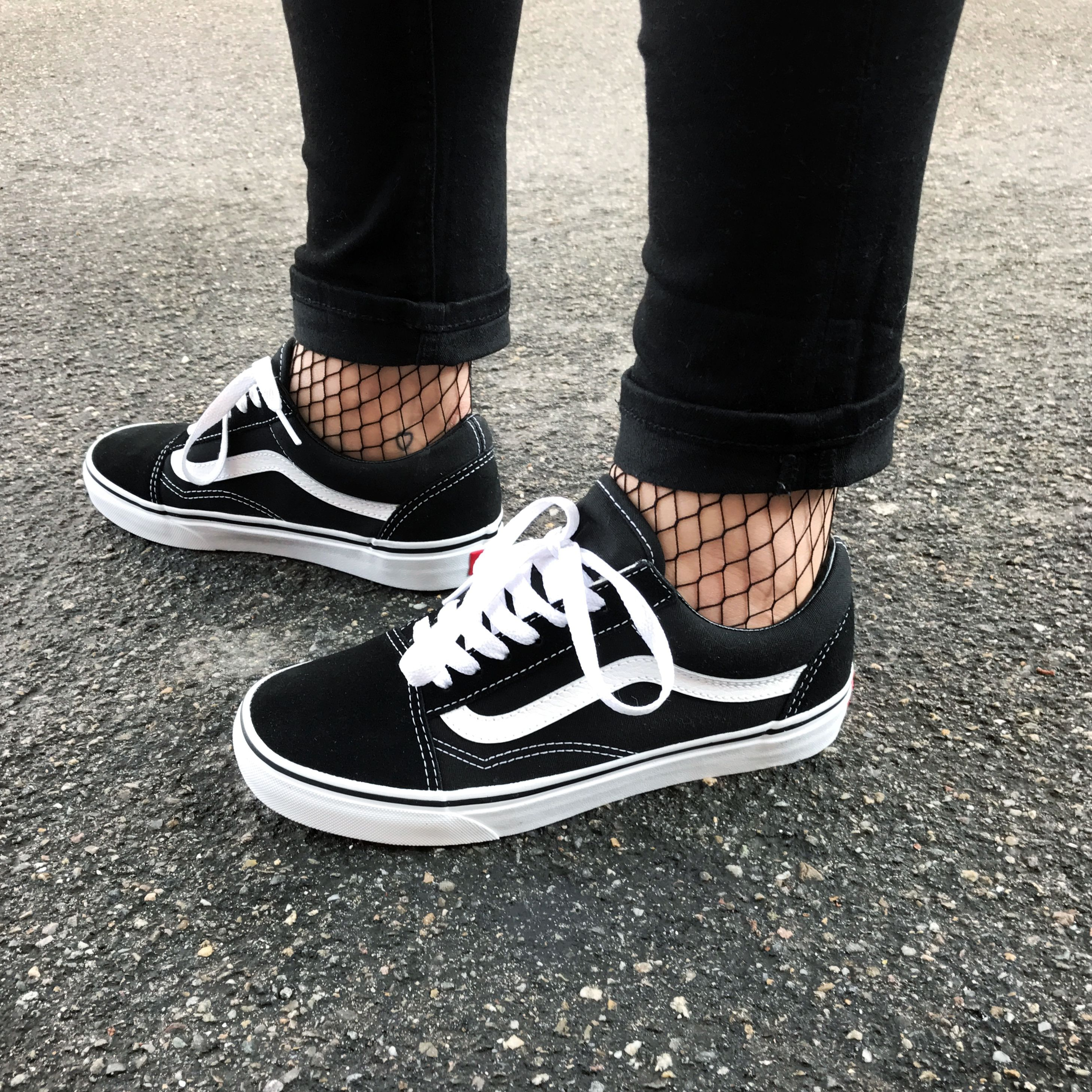 17dac6d4c72df Old skool Vans and fishnet stockings... my favourite combination at the  moment