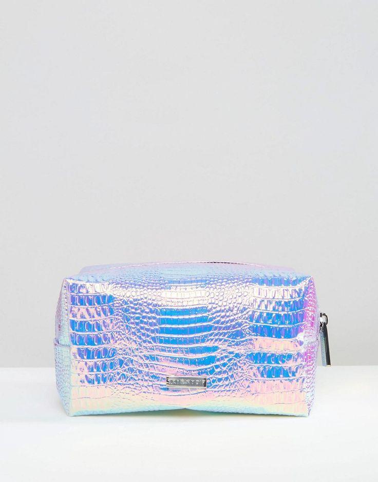 a129b6b27665 Image 1 of Skinnydip Holographic Makeup Bag - shoulder clutch bag