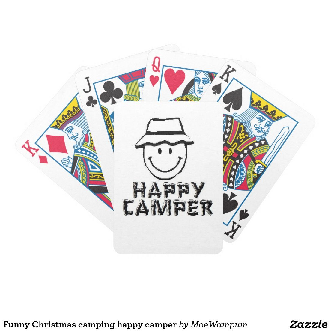 Funny Christmas camping happy camper