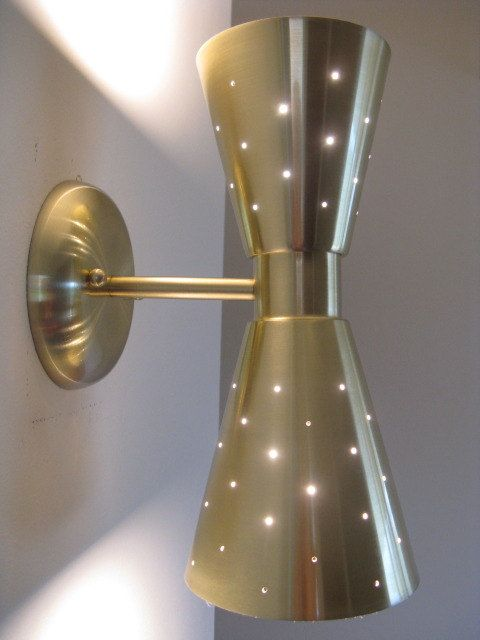 Mid Century Modern Hourgl Wall Light