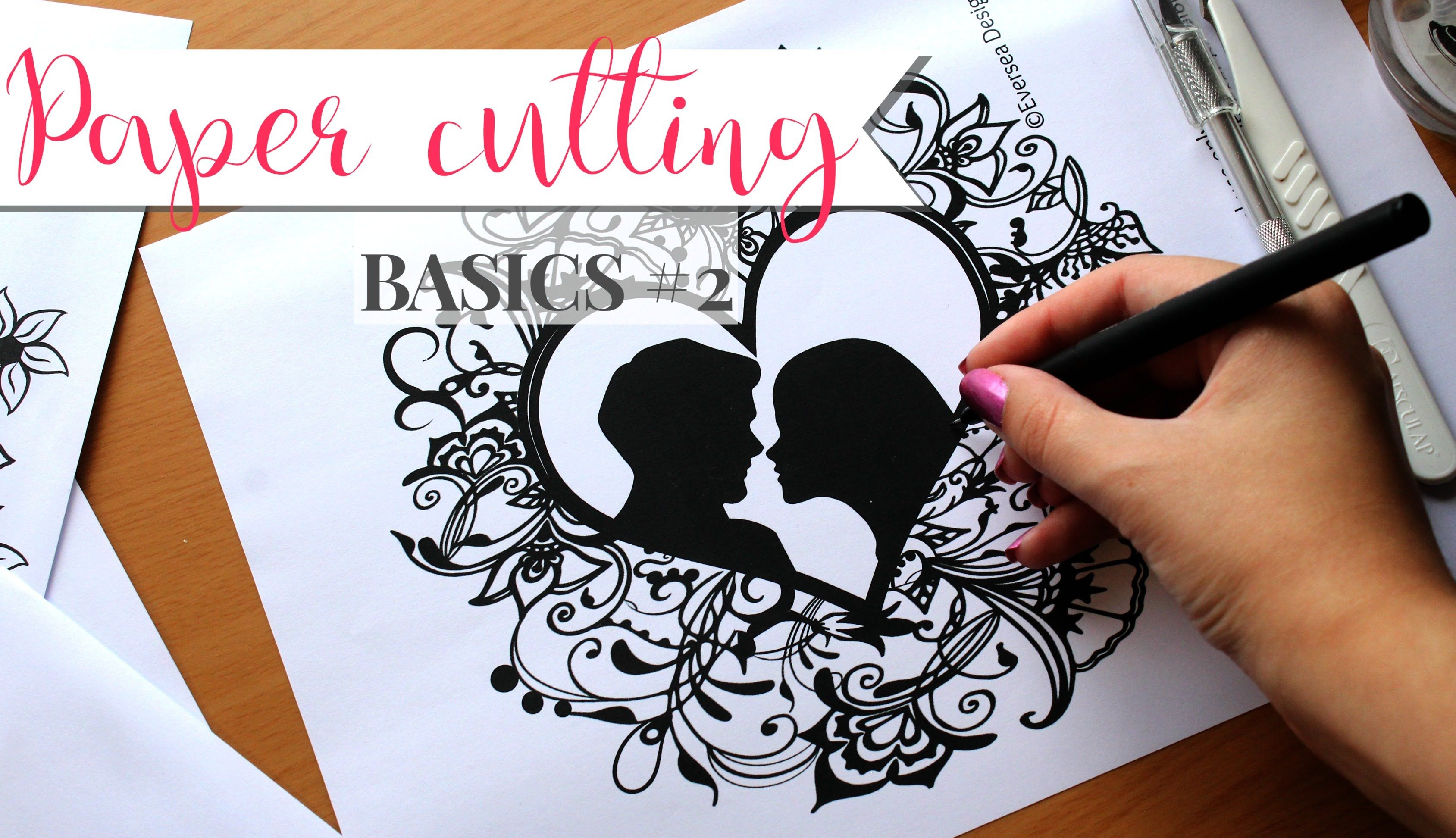Paper cutting Basics #2 | How to draw templates by hand and ...
