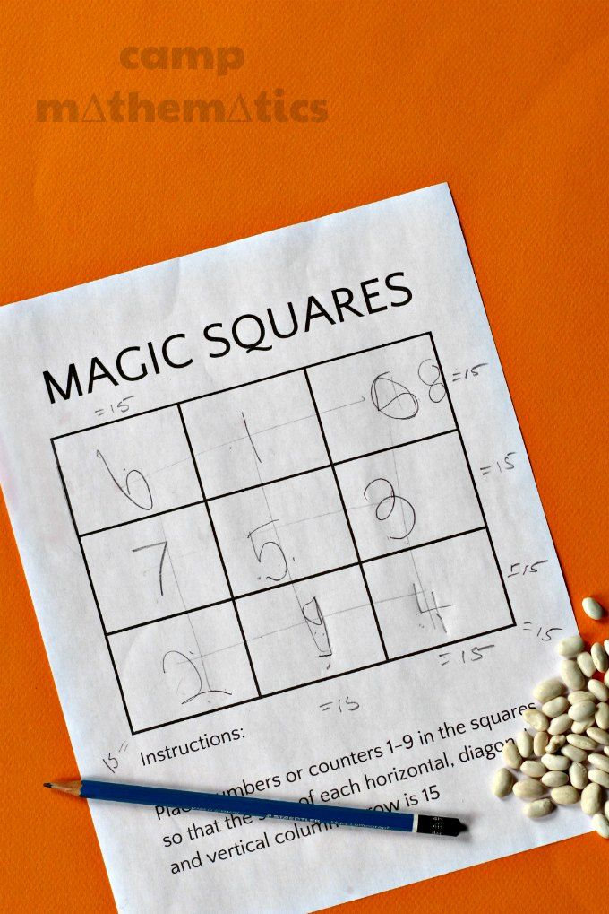 Magic Squares Math Fun The Cutest Worksheets And Ideas For