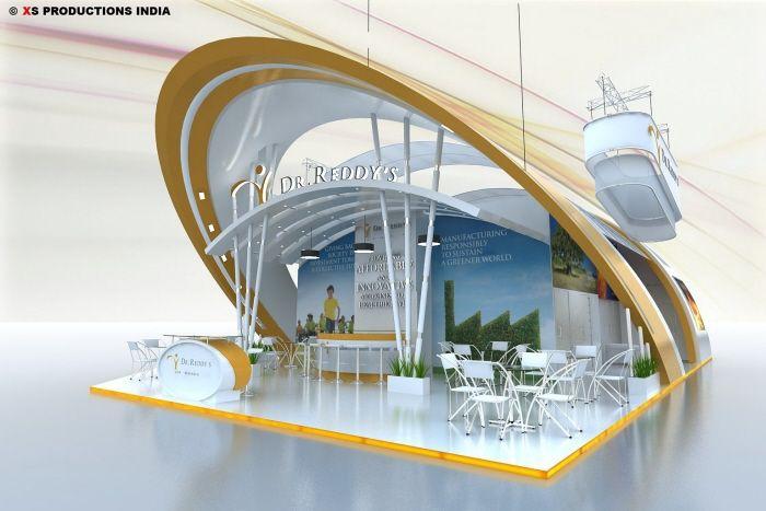 Interesting & modern exhibit booth design