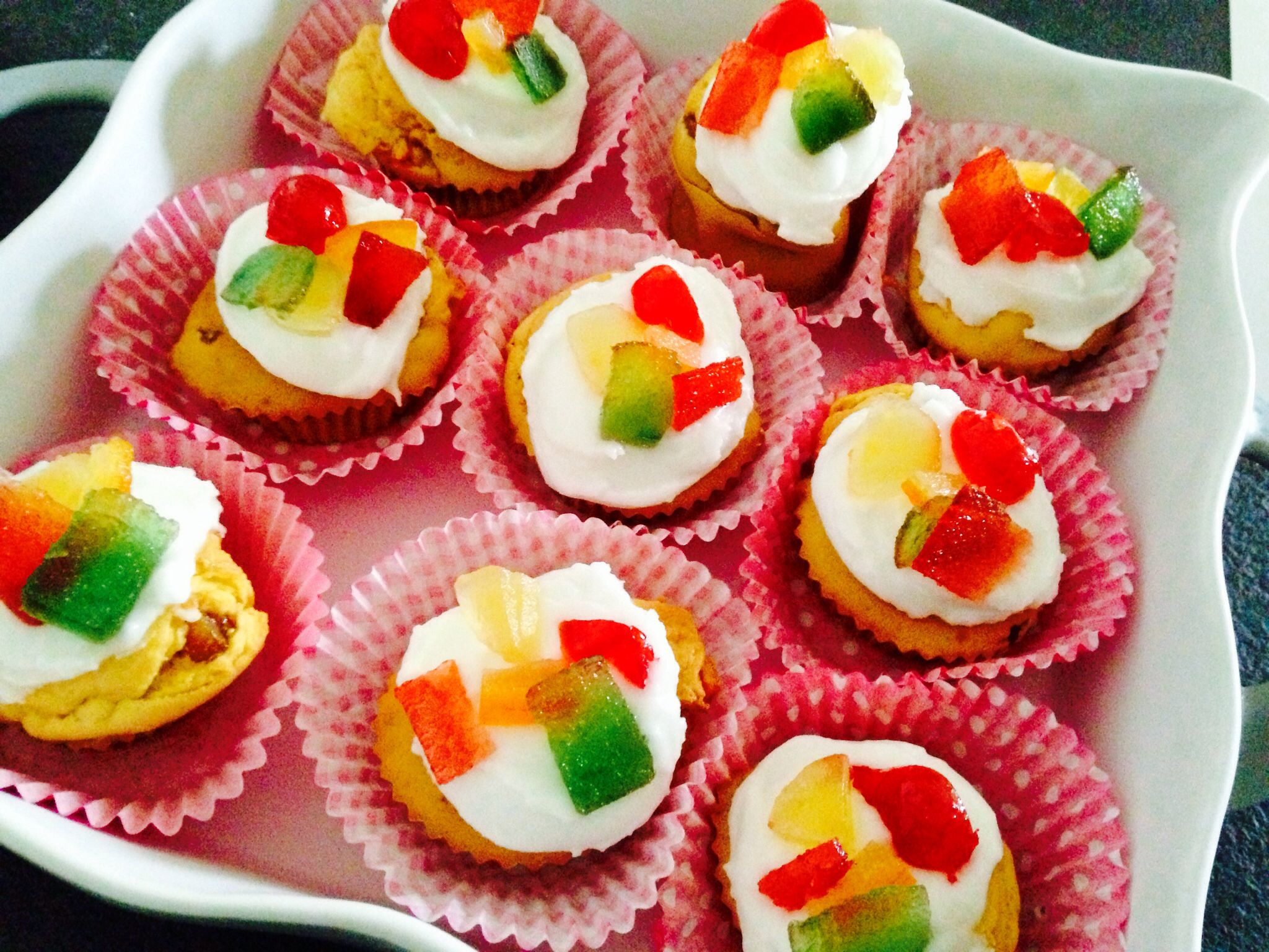 Cupcakes fruits confits