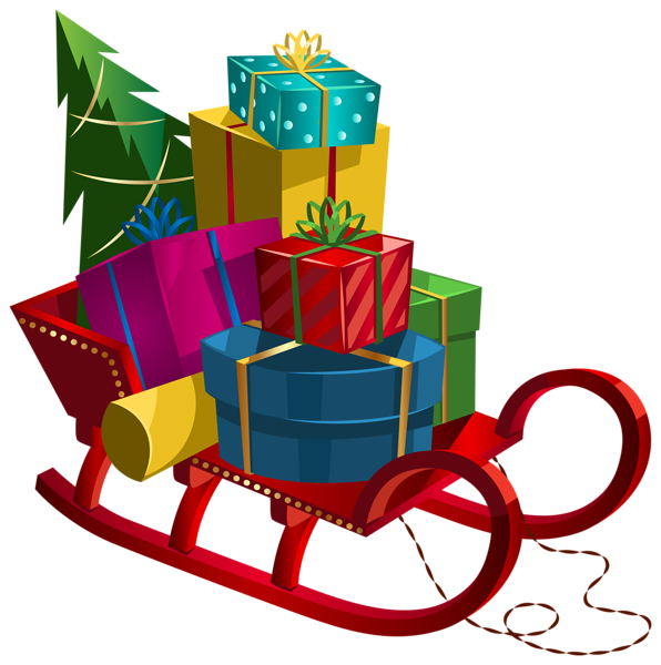 christmas sleigh with gifts png clip art image christmas clip art rh pinterest com christmas present clipart images xmas present clipart