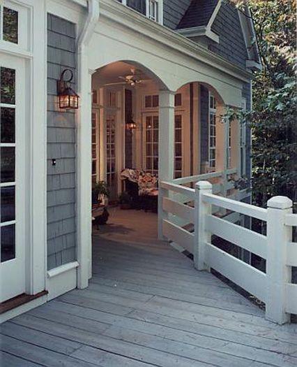 I love the covered porch Decor Pinterest Entrées, Maison