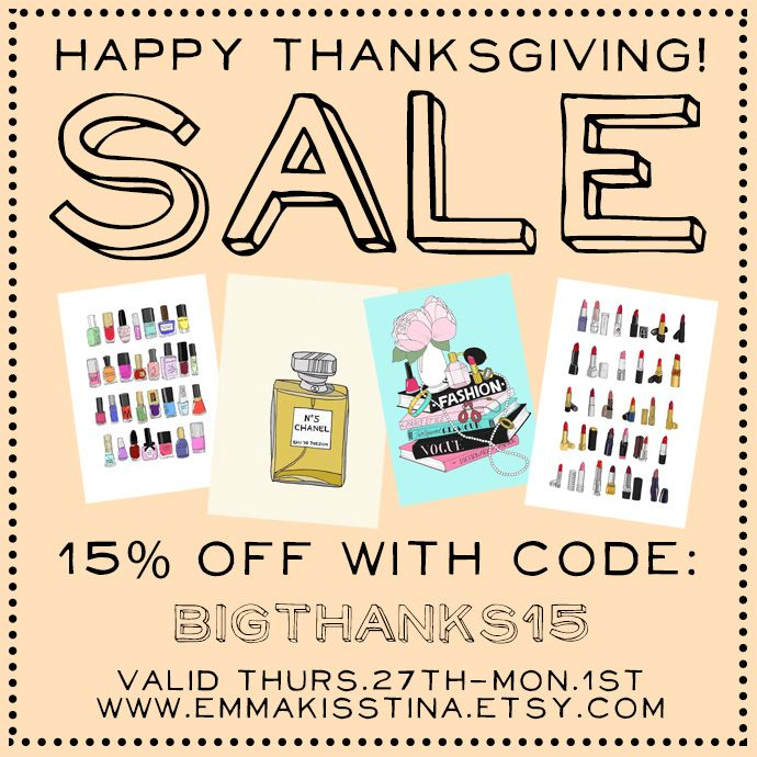 black friday cyber monday sale in my www.emmakisstina.etsy.com shop! yay! use coupon code: BIGTHANKS15 for 15% everything in my shop. or THANKS2014 for free shipping thru Jan. 1st. #emmakisstina #etsygifts