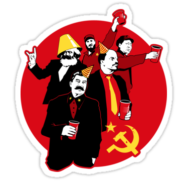 The Communist Party Sticker Sticker By Tom Burns Cute Laptop Stickers Funny Tee Shirts Funny Tshirt Design