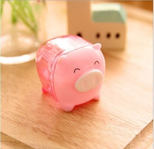 Cute Mini Pig Pencil Sharpener Mechanical for School Kids Gift 1pc  #Unbranded