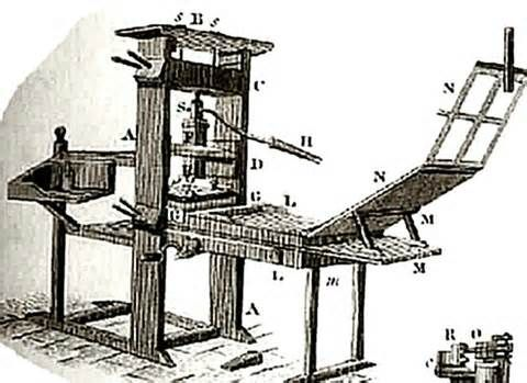 This Is The Gutenberg Printing Press Invented In 1450 Machine Allowed Reading Material