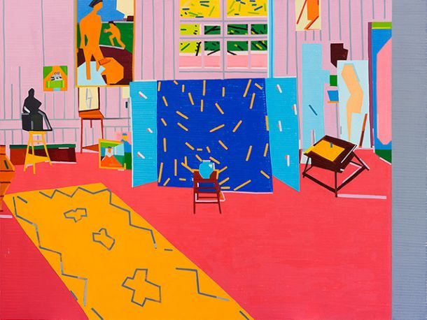 Guy Yanai, Pink Studio (For Ava) After Matisse, 2014, oil on linen, 180 x 240 cm