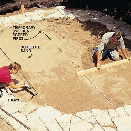 Build a Stone Patio or Brick Patio Sol terrasse, Pavé uni et Extérieur