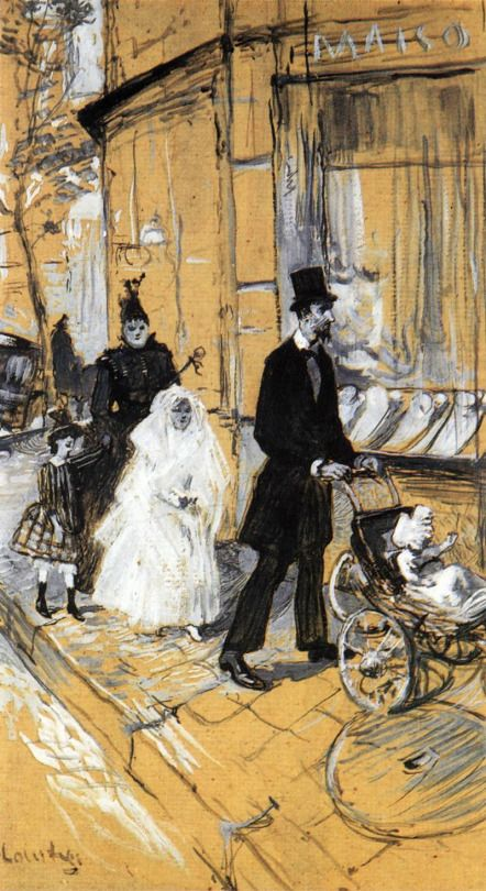 TOULOUSE-LAUTREC, Henri de The Day of First Communion 1888 Charcoal and oil on cardboard, 65 x 36 cm Musée des Augustins, Toulouse 226 notas