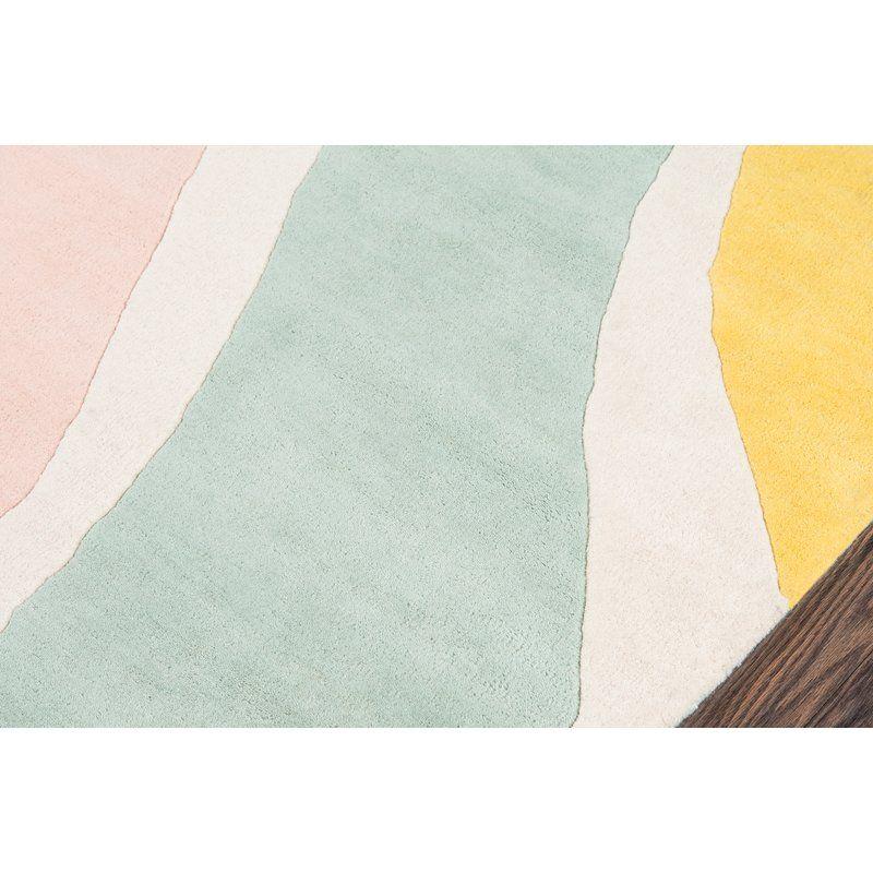 Sorbet Handmade Tufted Wool Yellow Light Green Light Pink Rug Rugs Tufted Tufted Headboard Queen