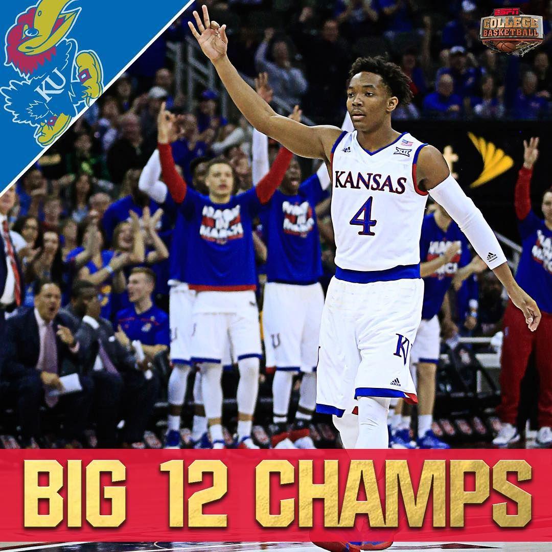 "ESPN College Basketball on Instagram ""Kansas wins its"