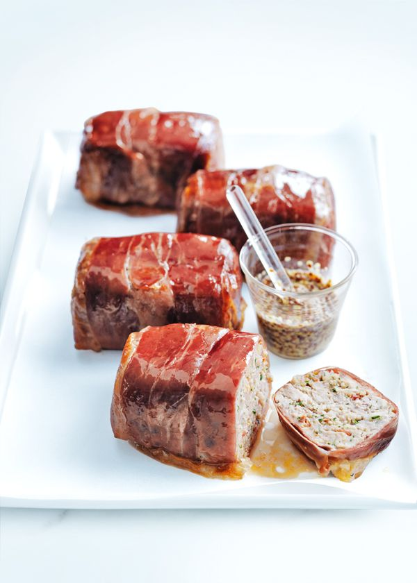 Chorizo Meatloaves with maple glaze by Donna Hay