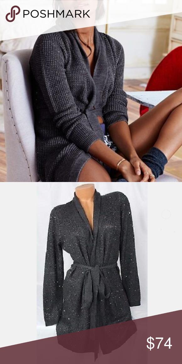 cb0763a74c Victoria Secret Robe kiss of cashmere sequin Victoria s Secret sweater  waffle mirco sequin robe. Kiss of cashmere. Victoria s Secret Intimates    Sleepwear ...