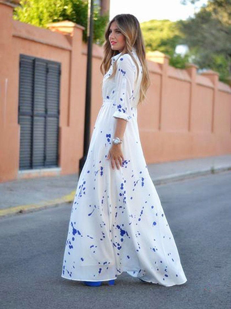 Click to buy ucuc fashion ladies elegant summer long sleeve turndown