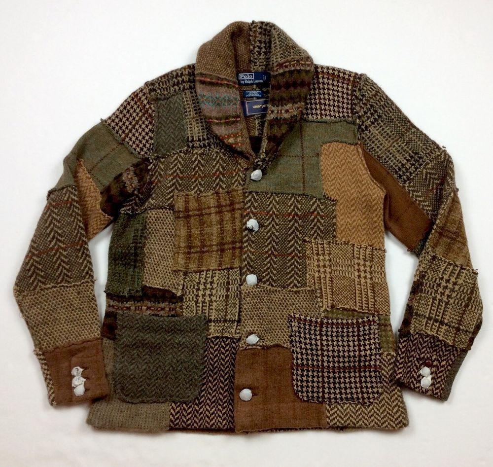 Details About Polo Ralph Lauren Men Wood Tweed Patchwork
