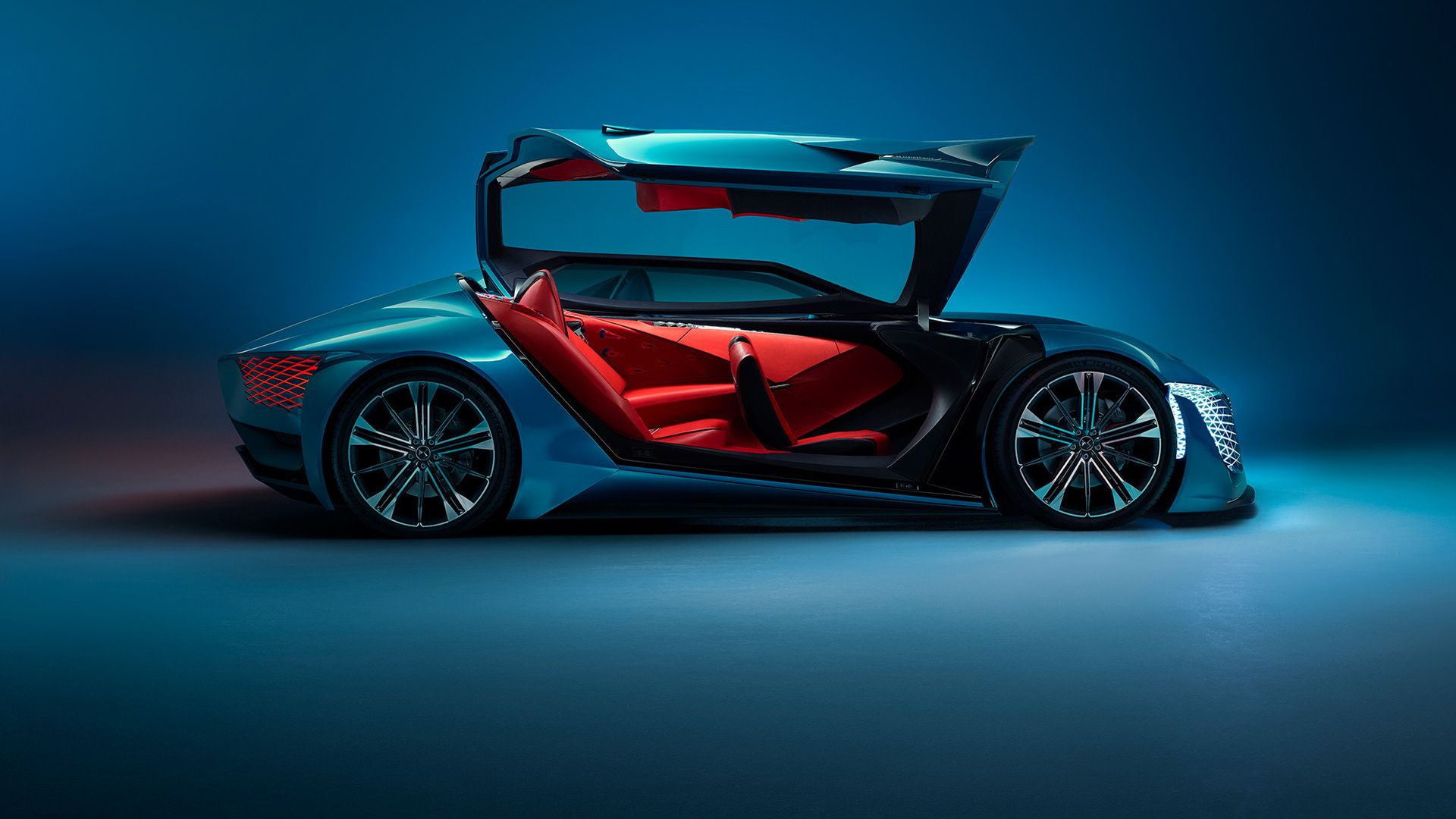 The Ds X Concept Is A Futuristic Sports Car Split In Two Parts And Two Posts Concept Cars Ds Automobiles Super Cars