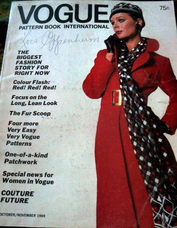VTG 1960s VOGUE PATTERN MAGAZINE SEWING CATALOG BOOK 1969