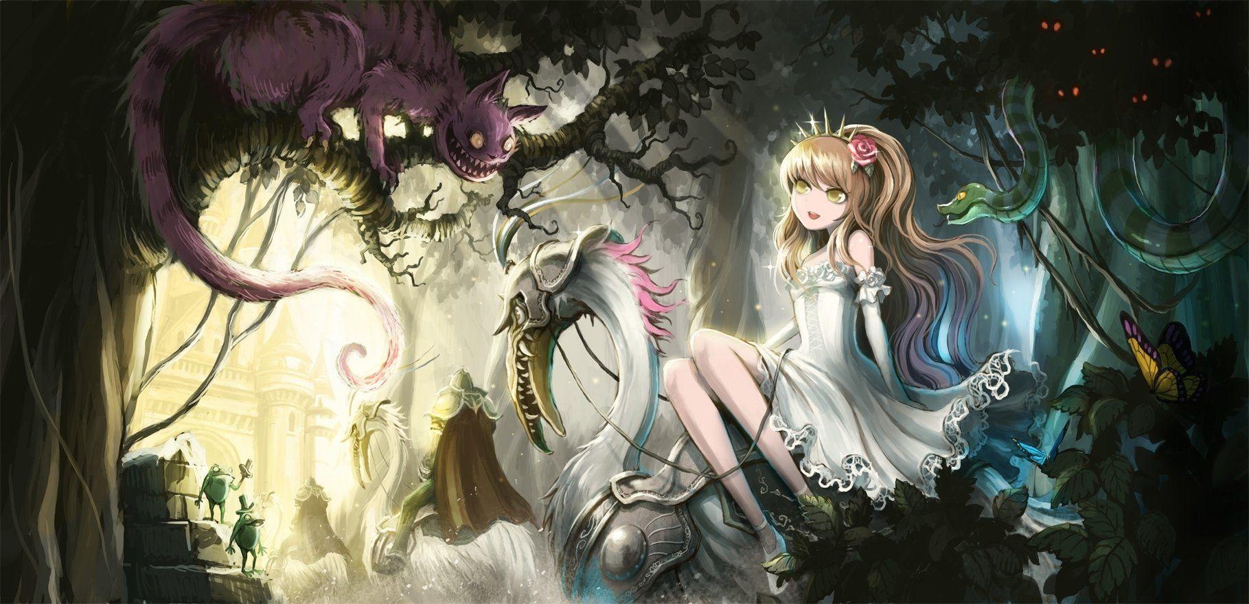 Alice In Wonderland Wallpaper For Walls Искусство, Рисунки
