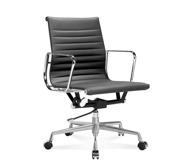 Eames Ea 117 Bureaustoel.Ea 117 Eames Office Chair Halfhoge Bureaustoel Van Geribbeld