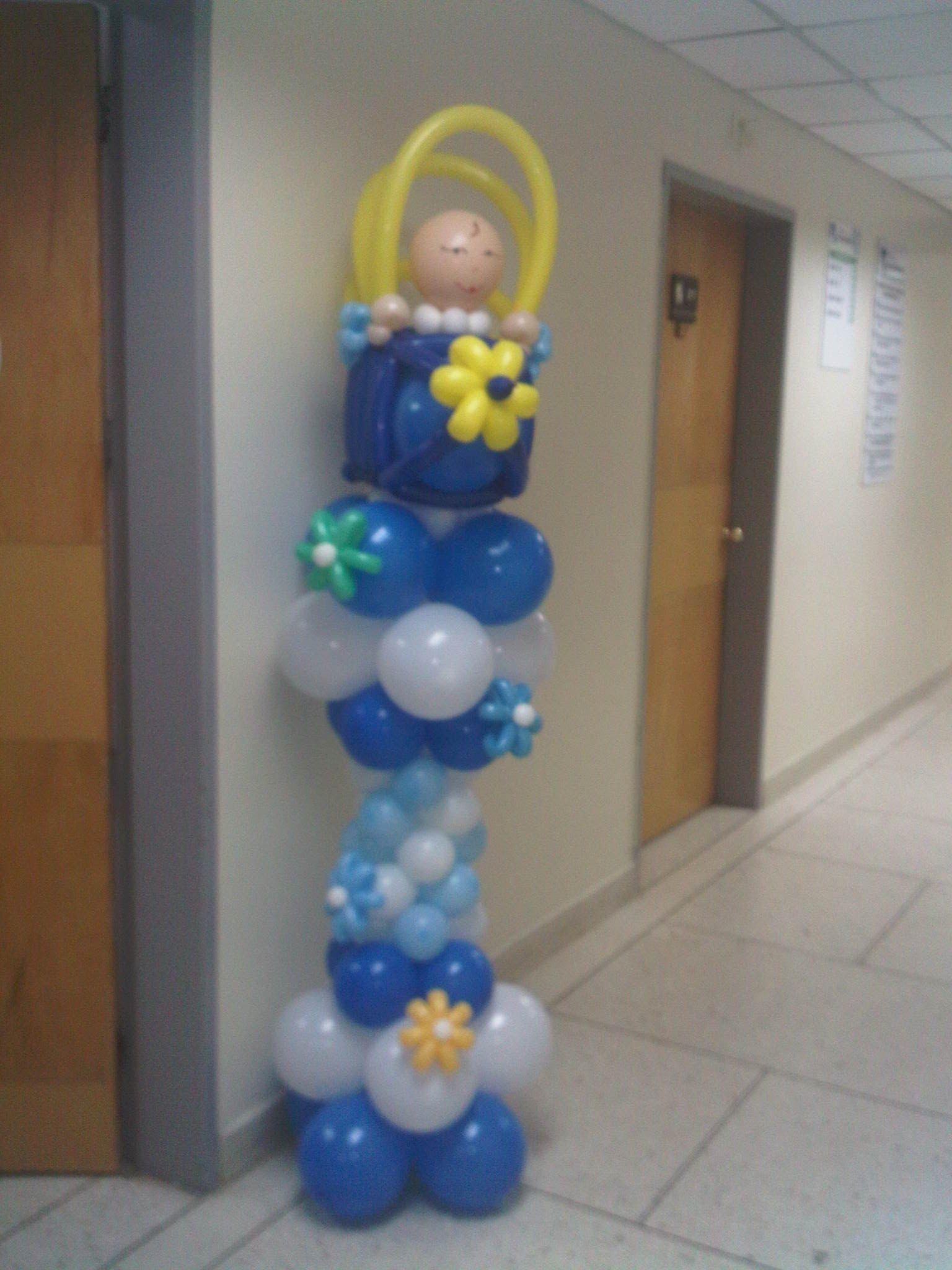 Arreglo Para Nacimiento Balloon Towerballoon Columnsballoon Archbaby Shower Balloonsballoon Decorationsbaby