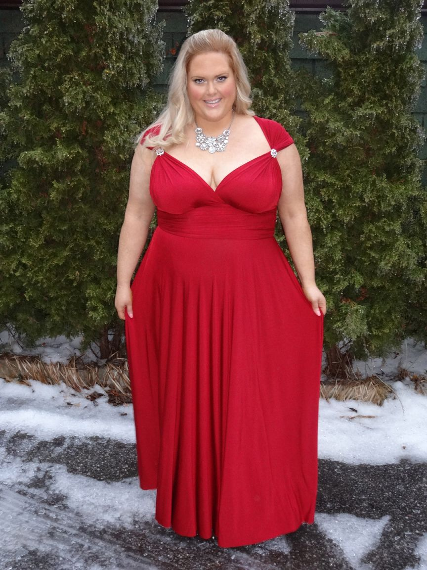 Plus Size Henkaa Convertible Dress Capped Sleeves 2 Maids