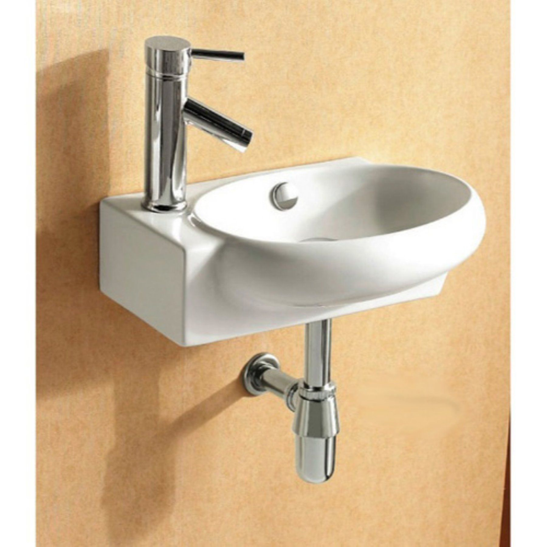By Nameeks Ca4522 Bathroom Sink White Caracalla Ca4522 One Hole