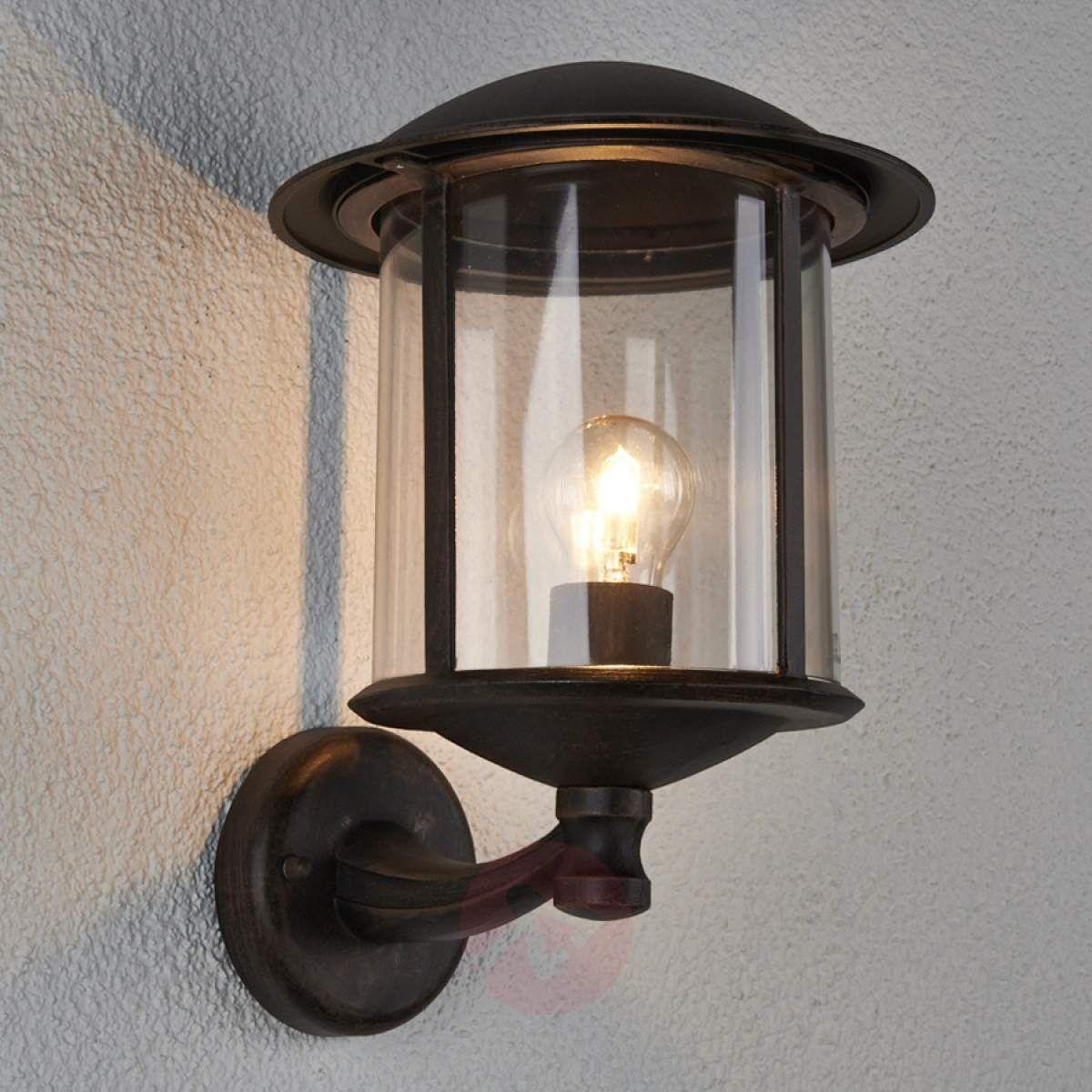 Piękna Zewnętrzna Lampa ścienna Maelis Lampy Wiszące