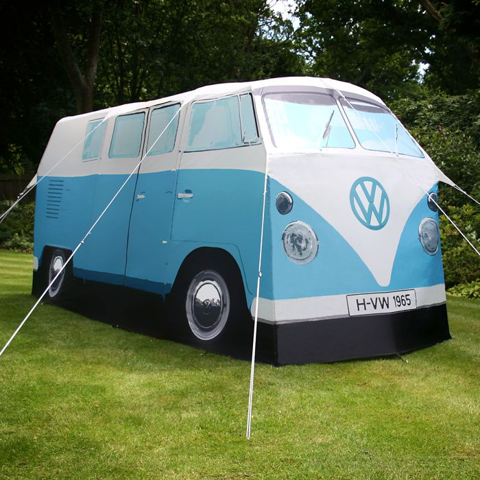 Officially licensed, this stunning four-man (or lady, natch) tent is a luxe, full-size replica of the iconic 1965 Volkswagen Camper Van synonymous with 60s counterculture.