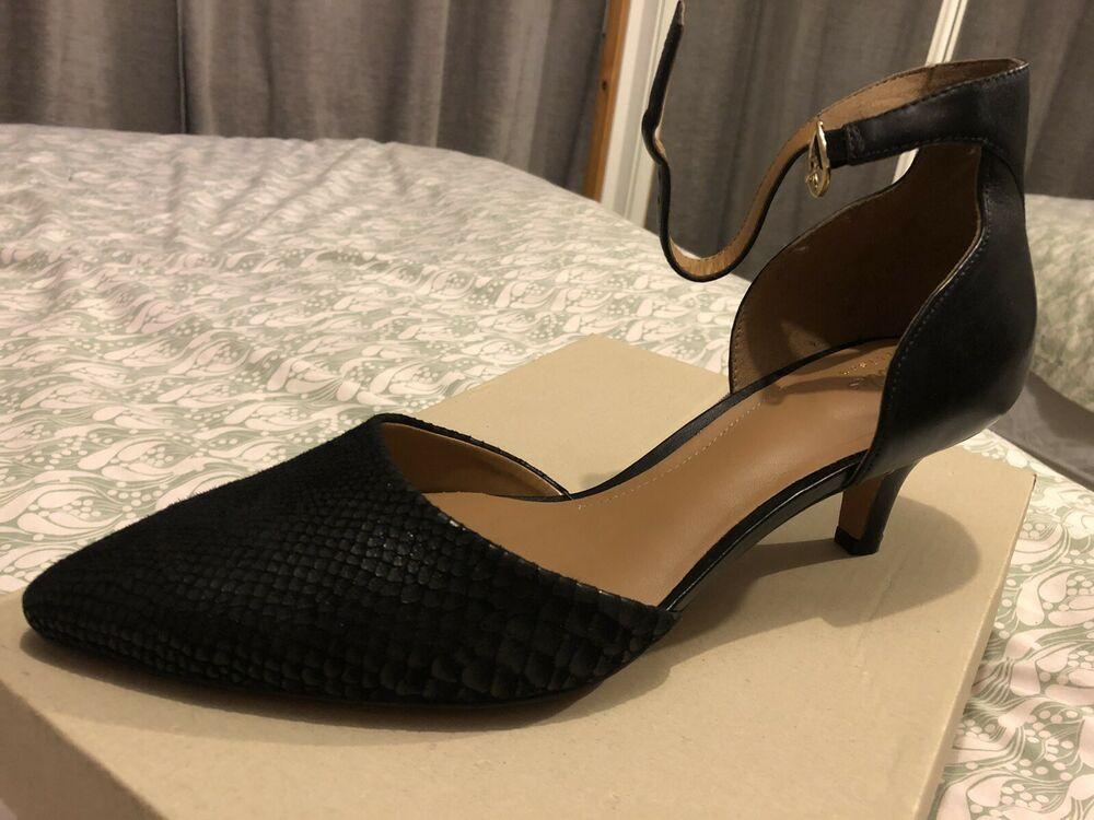 Clarks Black Kitten Heeled Shoes Kitten Heels From Ebay Uk Kittenheels Heels 17 00 End Dat Black Kitten Heels Leather Court Shoes Kitten Heels