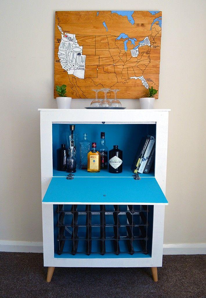 How to build a MidCentury Modern Wine & Liquor