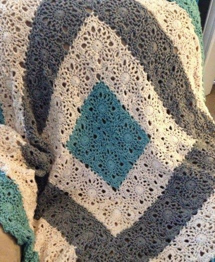 Knitting Granny Squares For Beginners : Crochet for children country lace afghan free pattern