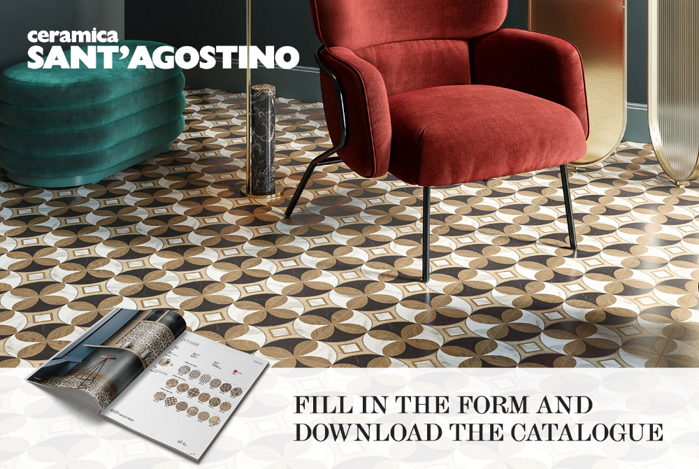Marble And Wooden Inlays Effect By Ceramica Sant Agostino Sante