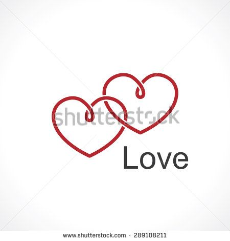 Two Intertwined Hearts Symbol Of Love Stock Vector Tattoos