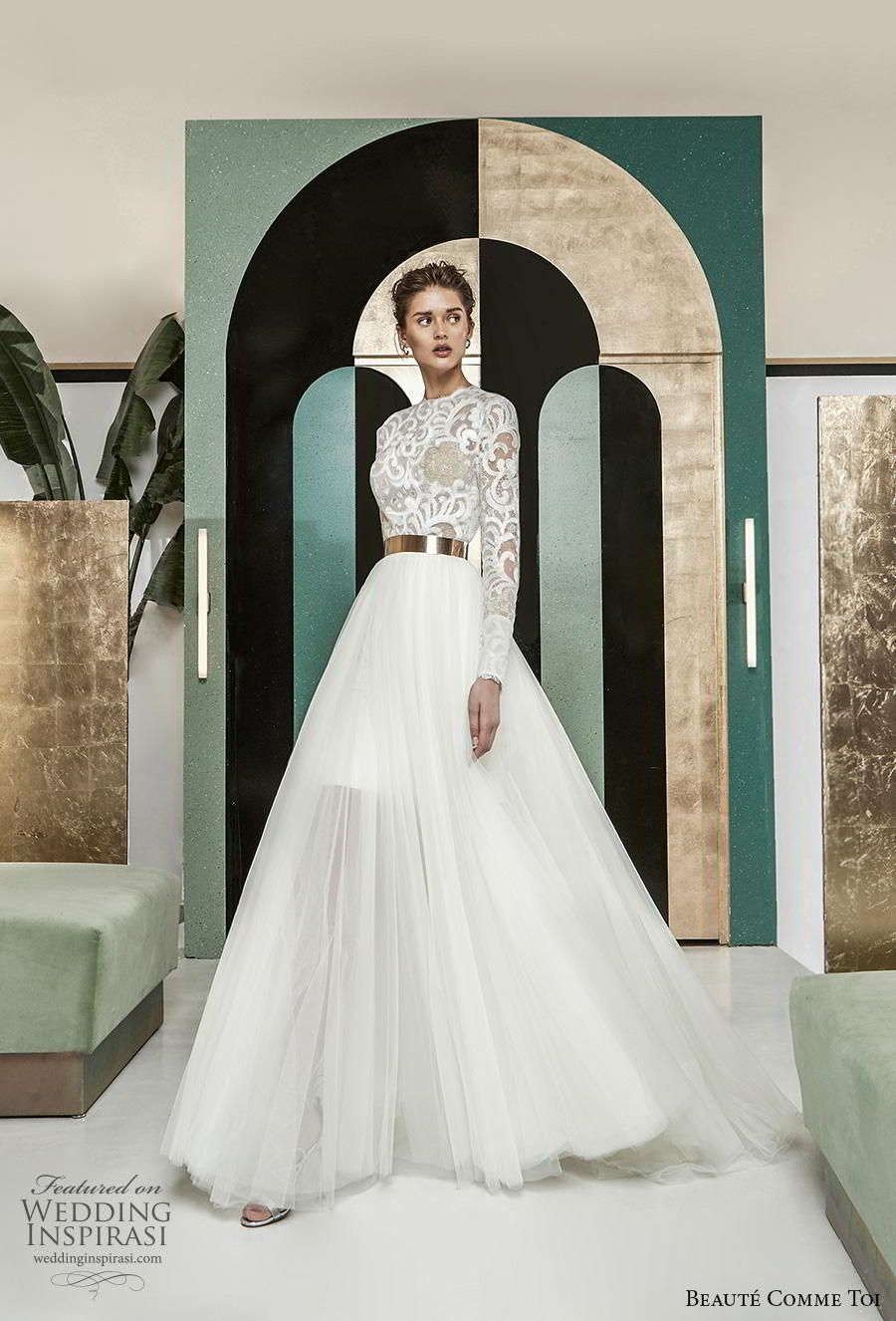 Breathtaking Modern Vintage Wedding Dresses By Beaute Comme Toi Fall Winter 2019 Bridal Collection Wedding Inspirasi Long Sleeve Wedding Gowns Wedding Dress Styles Wedding Dresses Vintage [ 1326 x 900 Pixel ]